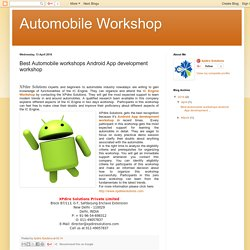 Automobile Workshop: Best Automobile workshops Android App development workshop