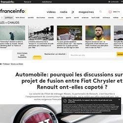 Automobile: pourquoi les discussions sur le projet de fusion entre Fiat Chrysler et Renault ont-elles capoté ?