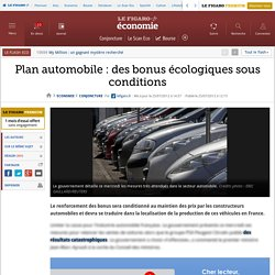 Conjoncture : Plan automobile : un bonus écologique sous conditions