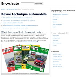 Revue technique automobile - L'Encyclopédie de l'automobile