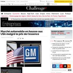 Marché automobile aux USA en hausse malgré le prix de l'essence