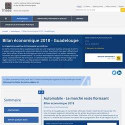Automobile - Le marché reste florissant − Bilan économique 2018 - Guadeloupe