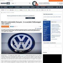 Marché automobile français : le scandale Volkswagen vite oublié ?
