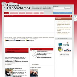 Campus Automobile Spa-Francorchamps | Bienvenue sur le site du Campus Automobile Spa-Francorchamps