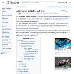 Automobile hybride électrique