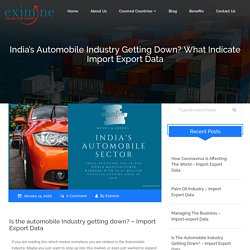 India's Automobile Industry Getting Down? What Indicate Import Export Data