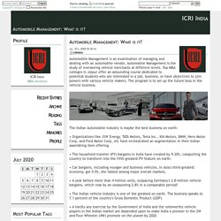 Automobile Management: What is it?