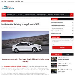 Best Automobile Marketing Strategy Trends in 2019