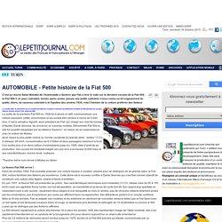 AUTOMOBILE - Petite histoire de la Fiat 500