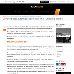Comment devenir pilote automobile professionnel ?