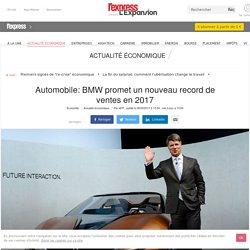 Automobile: BMW promet un nouveau record de ventes en 2017