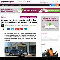 Automobile : On est monté dans l'un des premiers véhicules autonomes de Renault