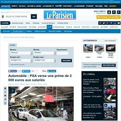 Automobile : PSA verse une prime de 2 000 euros aux salariés