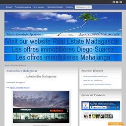 Automobiles Madagascar - Agence Immobilière Nosy-Be