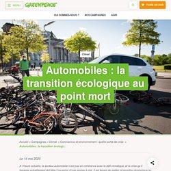 Automobiles : la transition écologique au point mort