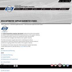 OESA Automotive Supplier Barometer