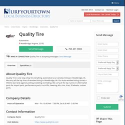 Quality Tire - Automotive - Business Directory