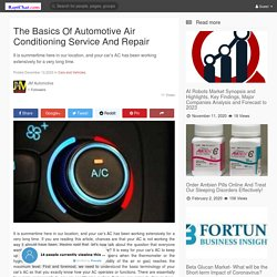 The Basics Of Automotive Air Conditioning Service And Repair