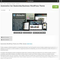 Automotive Car Dealership Business WordPress Theme - WordPress