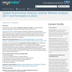 Global Automotive Interior Leather Market analysis 2017 and forecasts to 2022