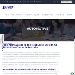 Consultation for Automotive Courses in Melbourne by Experts