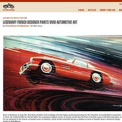 Legendary French Designer Paints Vivid Automotive Art