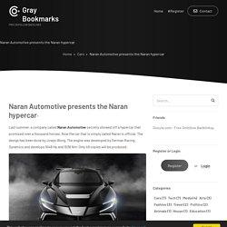 Naran Automotive presents the Naran hypercar