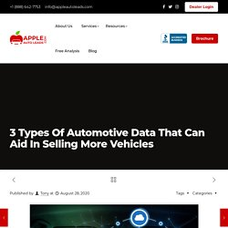 3 Types Of Automotive Data That Can Aid In Selling More Vehicles