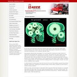 AGCO Automotive Repair Service - Baton Rouge, LA - In-House Specialist