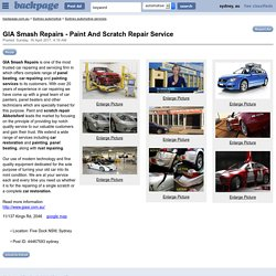 GIA Smash Repairs - Paint And Scratch Repair Service - Sydney automotive services