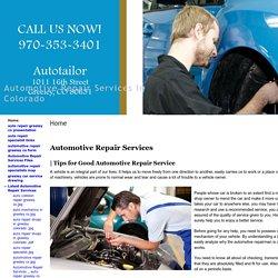 Automotive Repair Services In Colorado