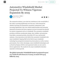 Automotive Windshield Market Projected To Witness Vigorous Expansion By 2025