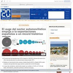 El auge del sector automovilístico empuja a la exportaciones españolas a un récord histórico