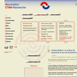 Automutilation: un indice de bipolarité et non de borderline !