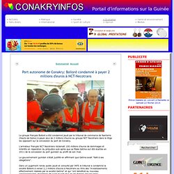 2011 Conakry gestion Port Bolloré