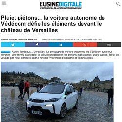 Pluie, piétons... la voiture autonome de Védécom défie les éléments devant le château de Versailles