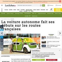 La voiture autonome fait ses débuts sur les routes françaises, Automobile