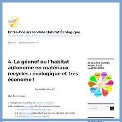 4. La géonef ou l'habitat autonome en matériaux recyclés : écologique et très économe ! - Entre-Coeurs Module Habitat Écologique