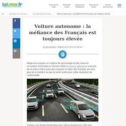 Voiture autonome : la méfiance des Français est toujours élevée