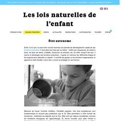 Être autonome - Les lois naturelles de l'enfant
