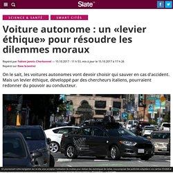 Voiture autonome : un «levier éthique» pour résoudre les dilemmes moraux