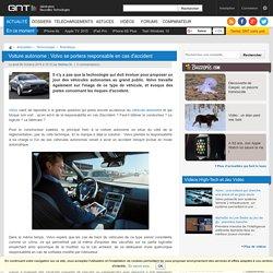 Voiture autonome : Volvo se portera responsable en cas d'accident