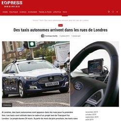 Des taxis autonomes arrivent dans les rues de Londres