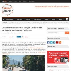 Les voitures autonomes Google Car circulent dans la rue en Californie
