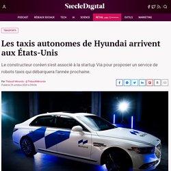 Les taxis autonomes de Hyundai arrivent aux États-Unis
