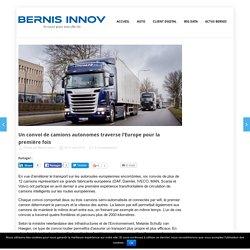 Un convoi de camions autonomes traverse l'Europe pour la première fois