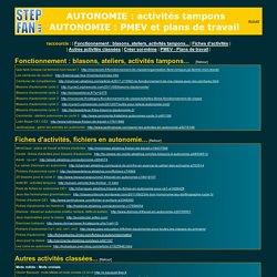 Autonomie : plans de travail, brevets, activités, fichiers, ressources, fiches ...