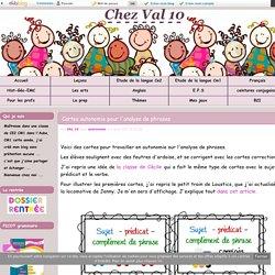 Cartes autonomie pour l'analyse de phrases - Chez Val 10