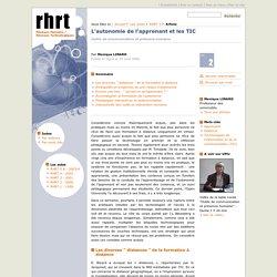 L'autonomie de l'apprenant et les TIC - Monique Linard