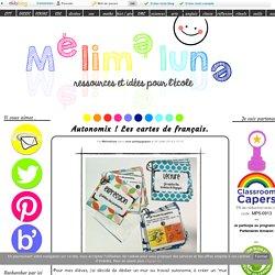 Autonomix ! Les cartes de français.